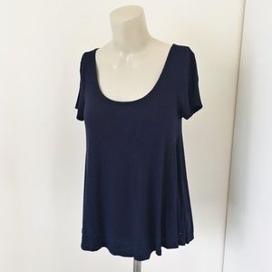 AEO | Navy Blue Open Back Top